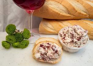 Cranberry and Horseradish Chevre